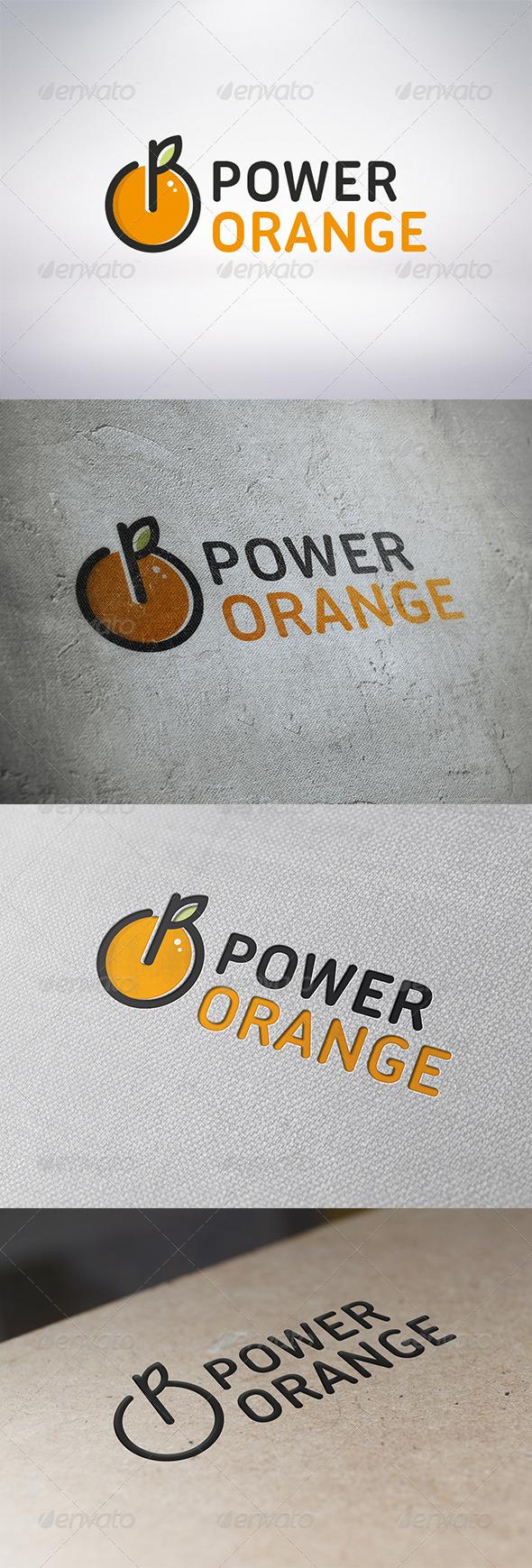 Power Orange Logo Template - Food Logo Templates