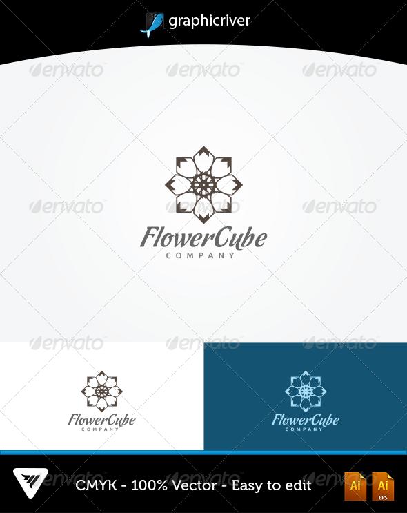 Flower Cube Logo - Logo Templates
