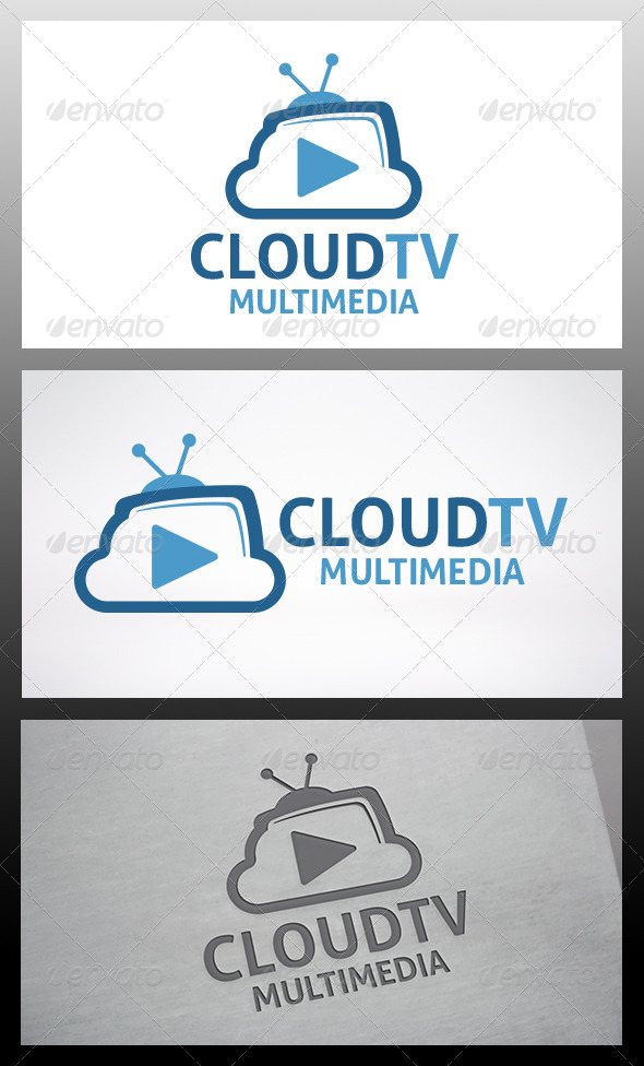 Cloud Tv Logo - Objects Logo Templates