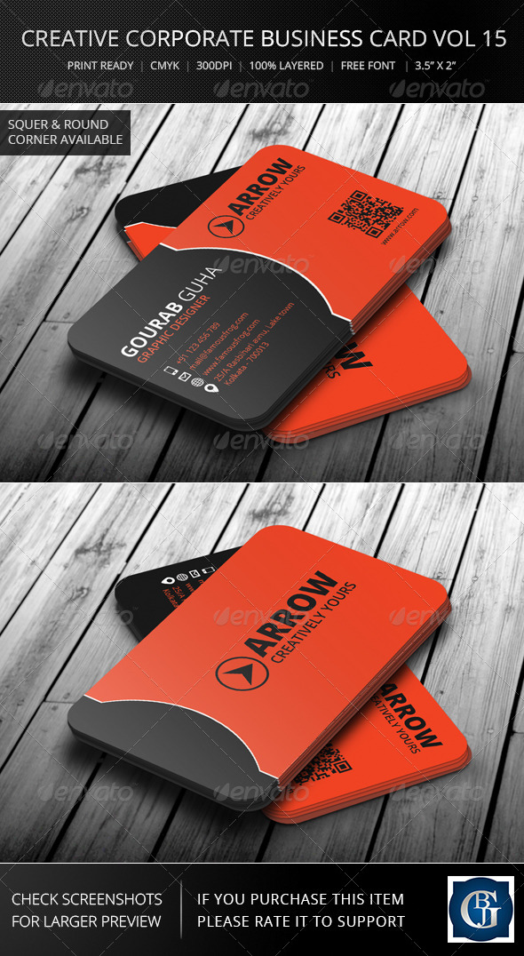 Creative Corporate Business Card Vol 16 - Corporate Business Cards