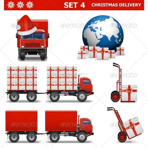 Vector Christmas Delivery Set 4 - Christmas Seasons/Holidays