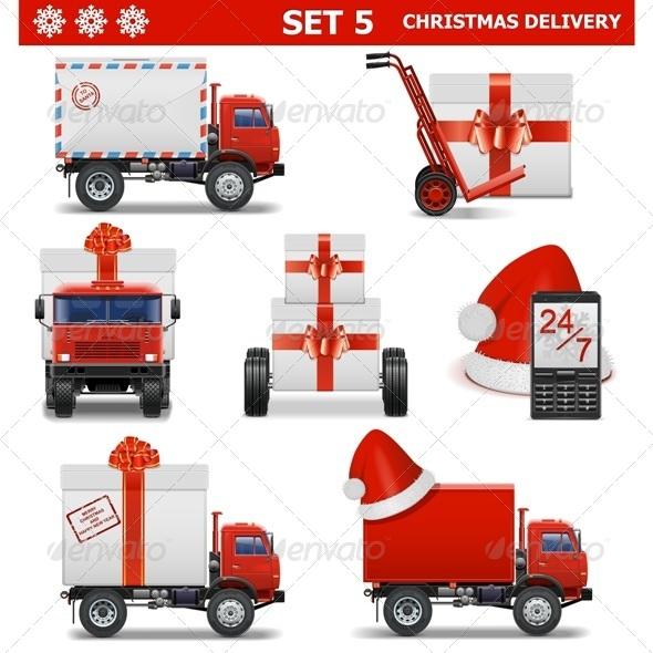 Vector Christmas Delivery Set 5 - Christmas Seasons/Holidays