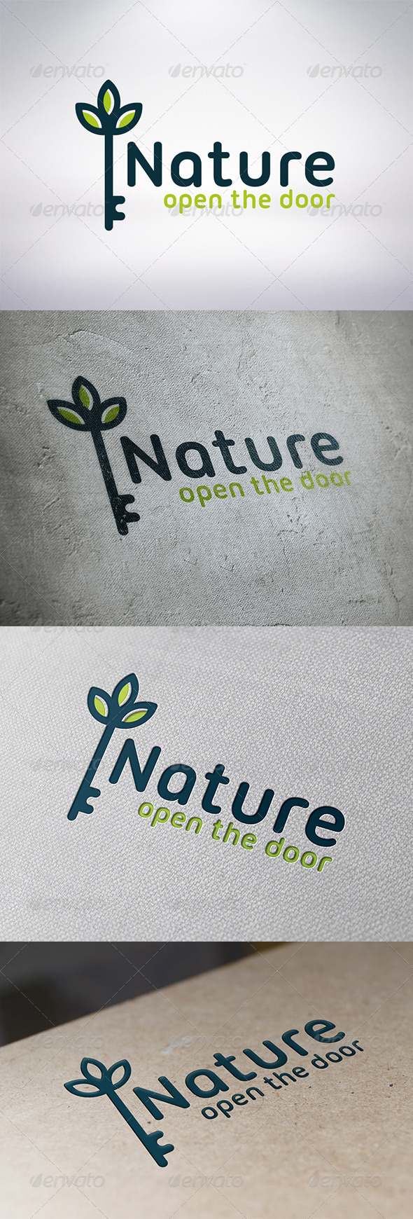Natural Key Logo Template - Nature Logo Templates