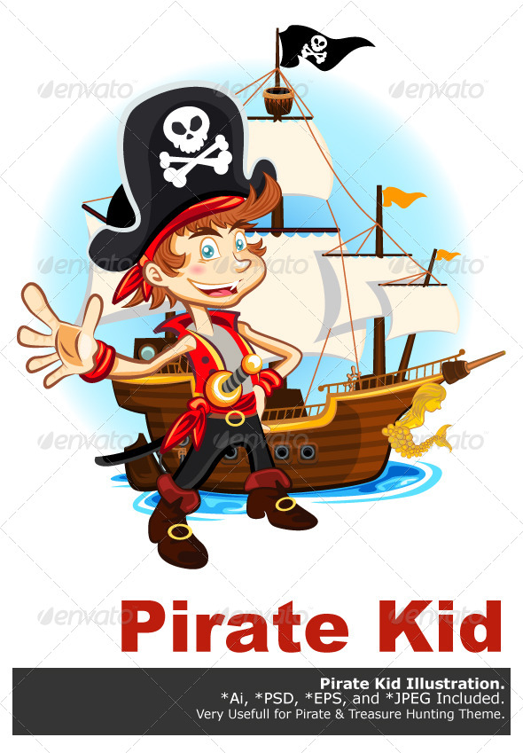 Pirate Kid and His Big War Ship - People Characters
