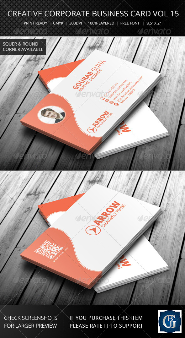 Creative Corporate Business Card Vol 15 - Corporate Business Cards