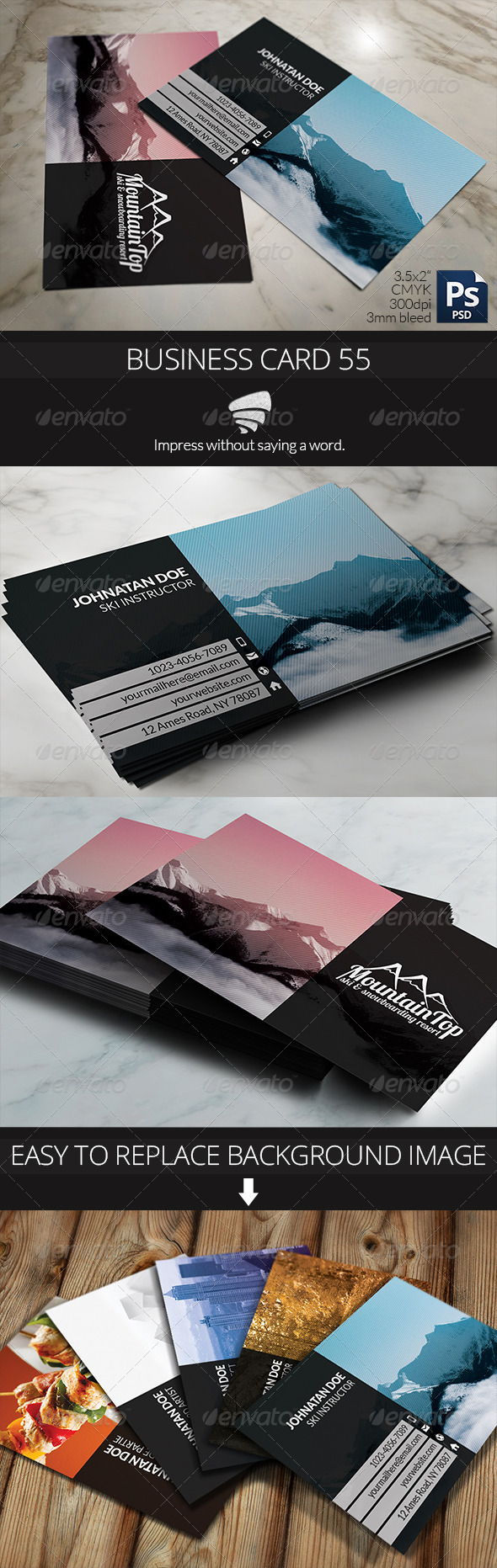 Business Card 55 - Business Cards Print Templates