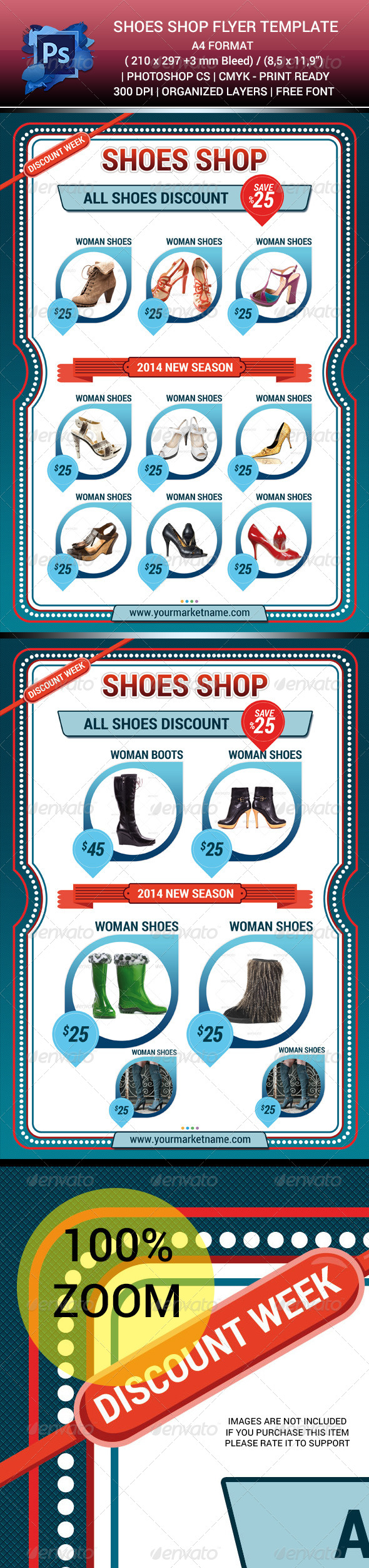 Shoes Shop Sales Flyer Template V.1 - Corporate Business Cards