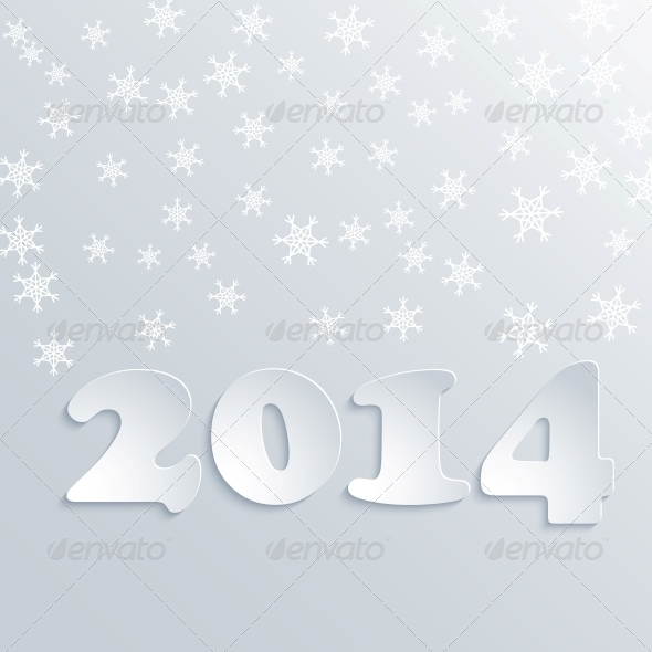 Abstract Winter 2014 Vector Background - Christmas Seasons/Holidays