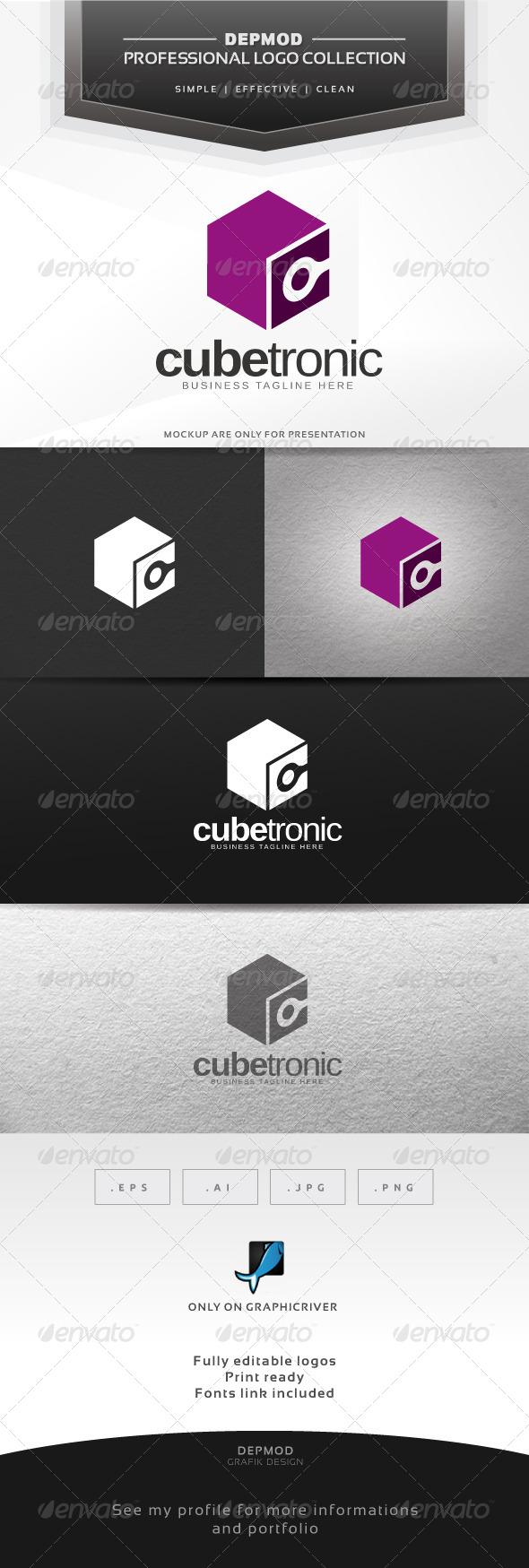Cube Tronic Logo - Abstract Logo Templates