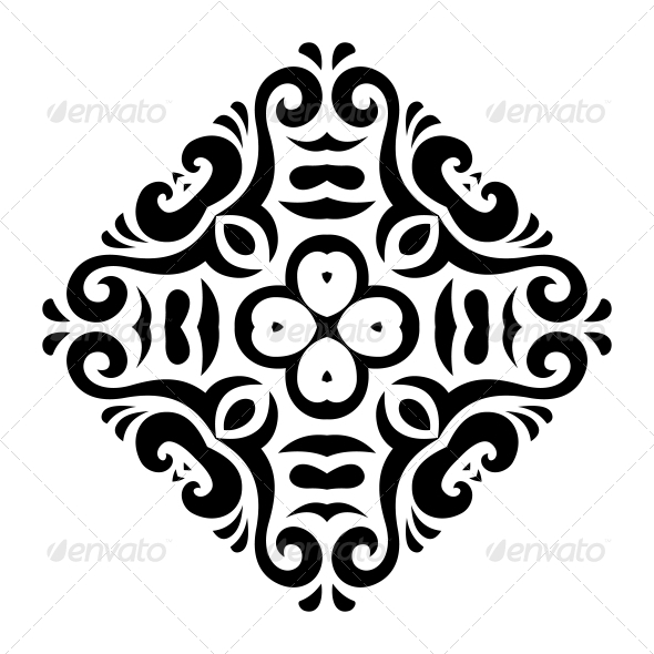 Abstract Vector Mehndi Tattoo Ornament - Patterns Decorative