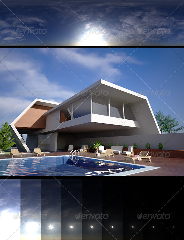 Realsky HDRI Blue Cloudy 1515 - 3DOcean Item for Sale
