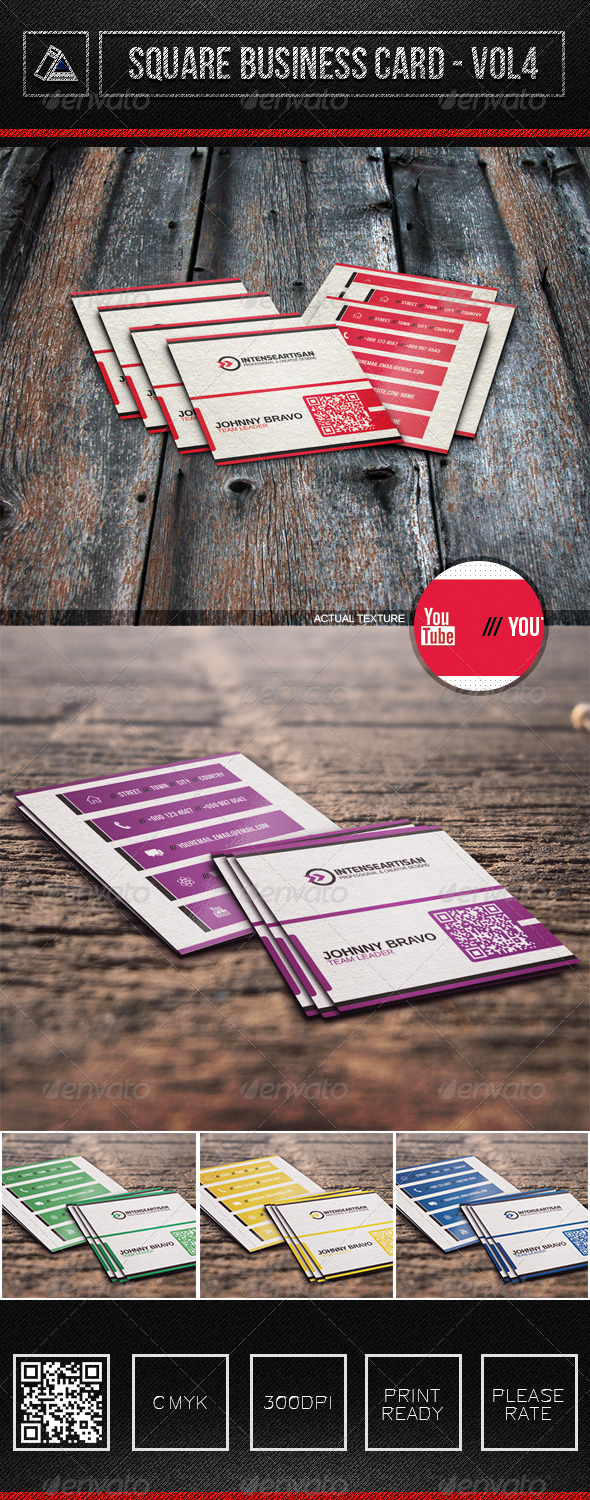 Square Business Card Vol4 - Corporate Business Cards