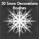 30 Snow Decorations Brushes (2000px) - GraphicRiver Item for Sale