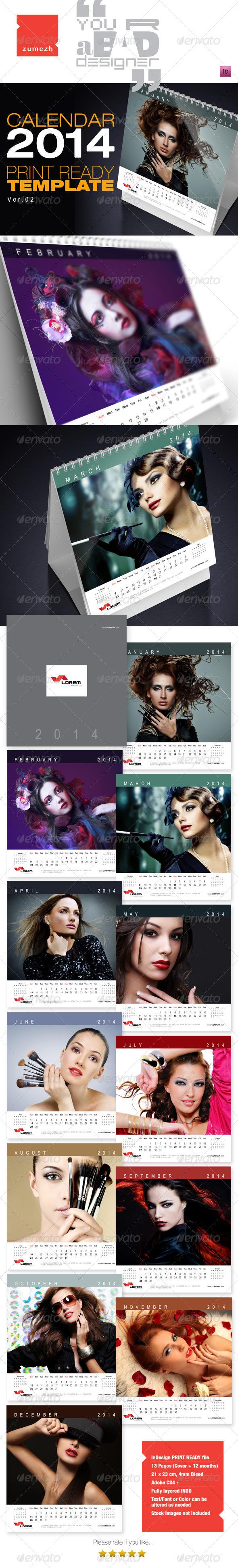 Desktop Calendar 2014 - v2 - Calendars Stationery