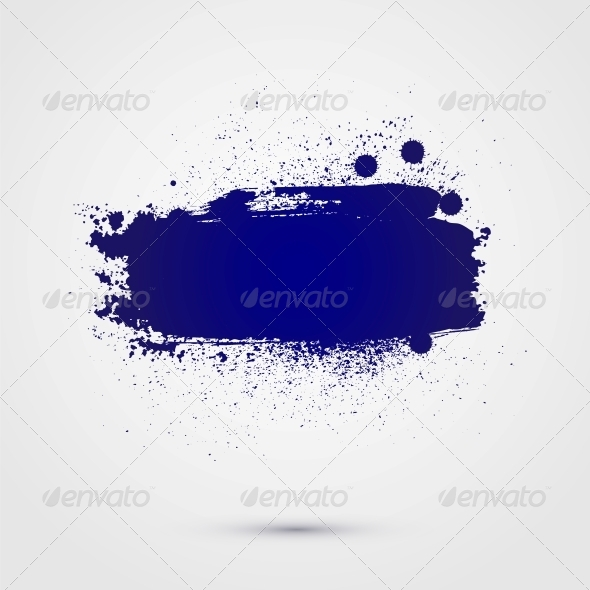 Abstract Vector Background of Paint Banner - Backgrounds Decorative
