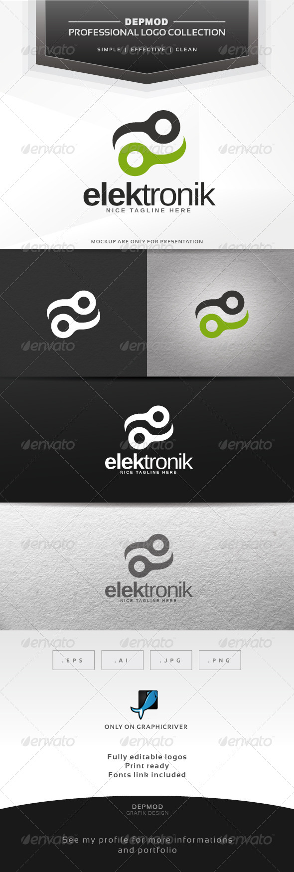 Elektronik Logo - Abstract Logo Templates