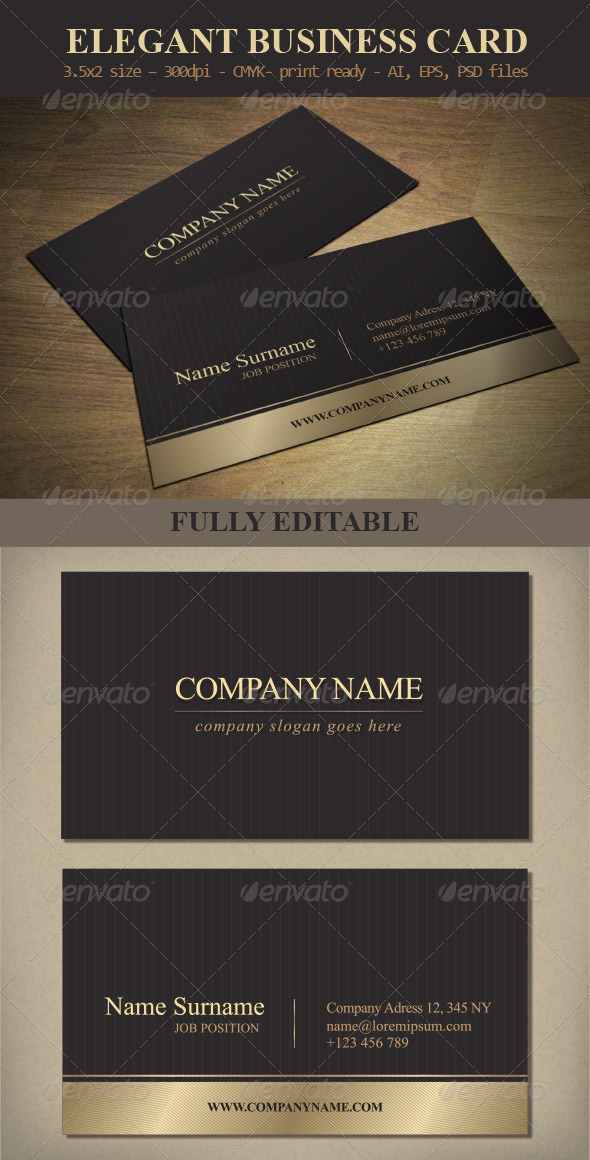 Elegant business card template by hellena13 graphicriver elegant business card template business cards print templates wajeb Image collections