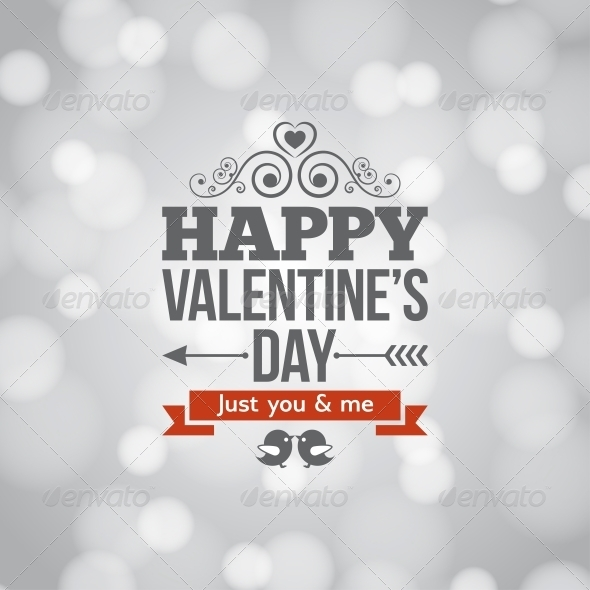 Valentines Day Silver Lights Vintage Background - Valentines Seasons/Holidays