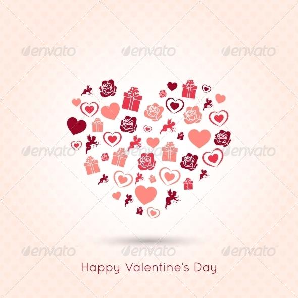 Valentines Day Heart Seamless Design Background  - Valentines Seasons/Holidays