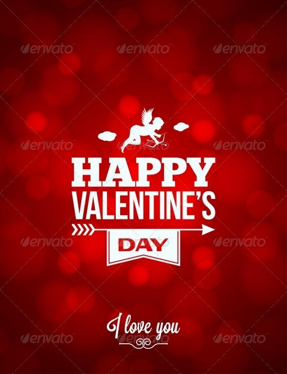 Valentines Day Red Light Background  - Valentines Seasons/Holidays