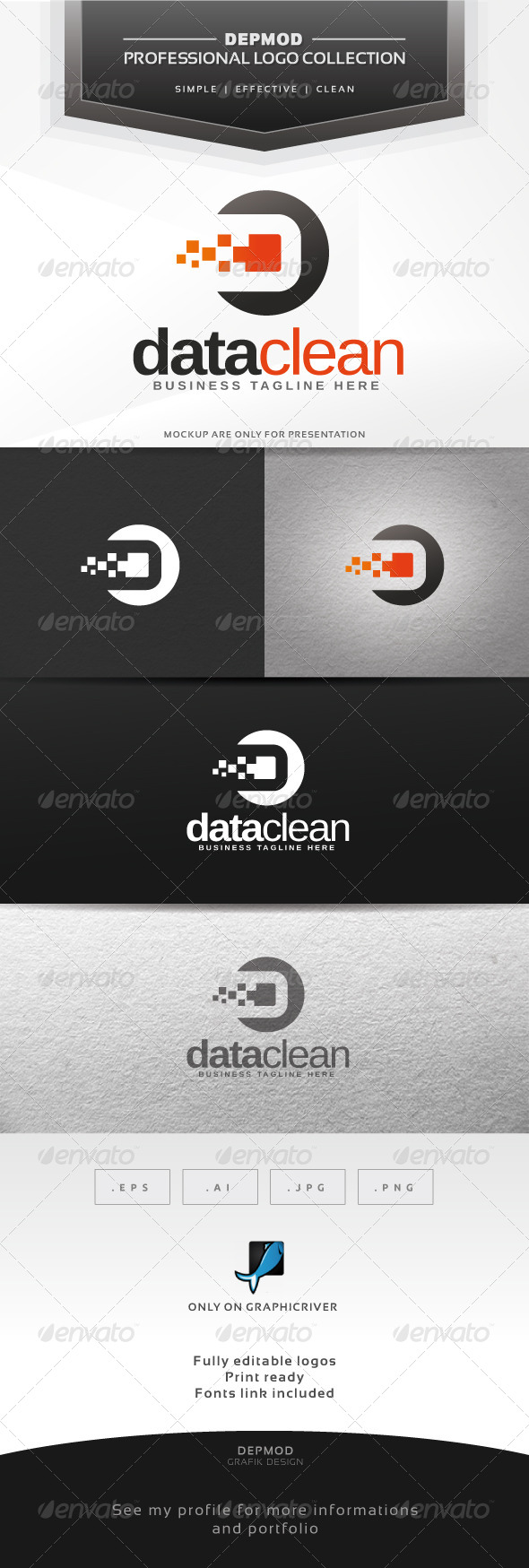 Data Clean Logo - Abstract Logo Templates