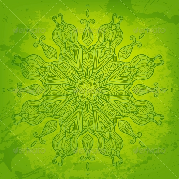 Green Abstract Vector Background for Your Design - Backgrounds Decorative