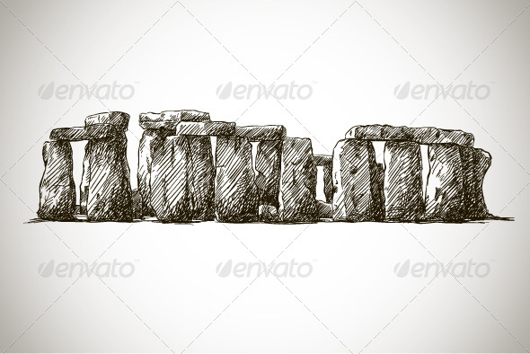 Stonehenge Vector drawing - Buildings Objects
