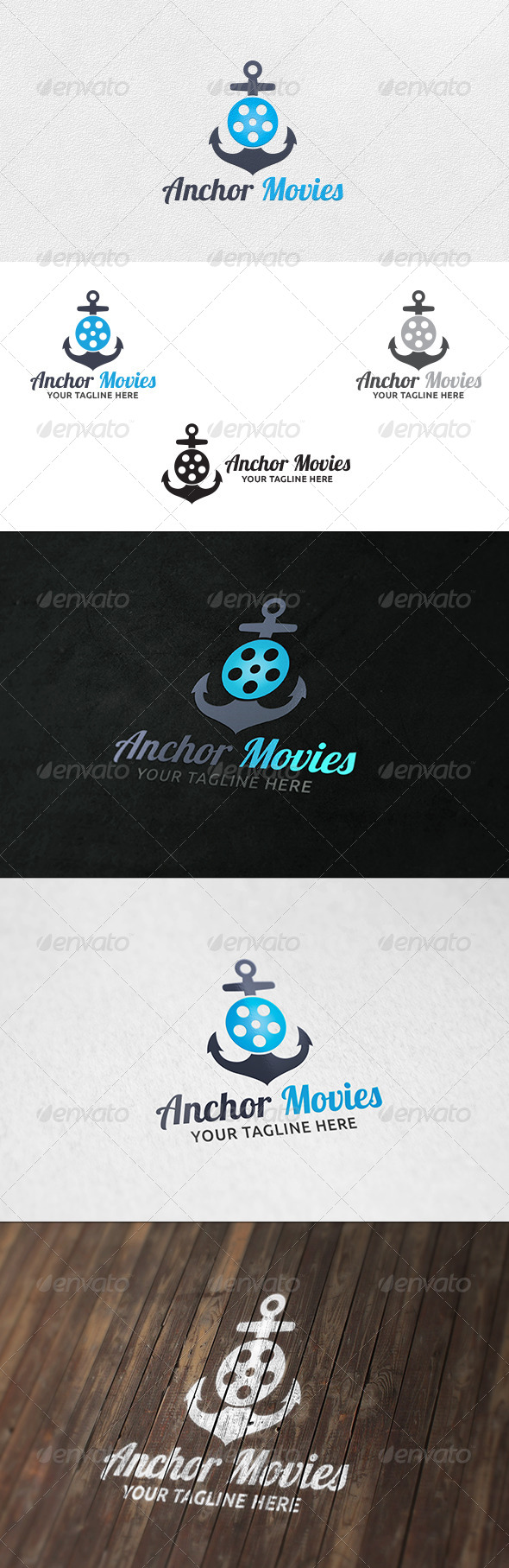Anchor Movies - Logo Template - Symbols Logo Templates