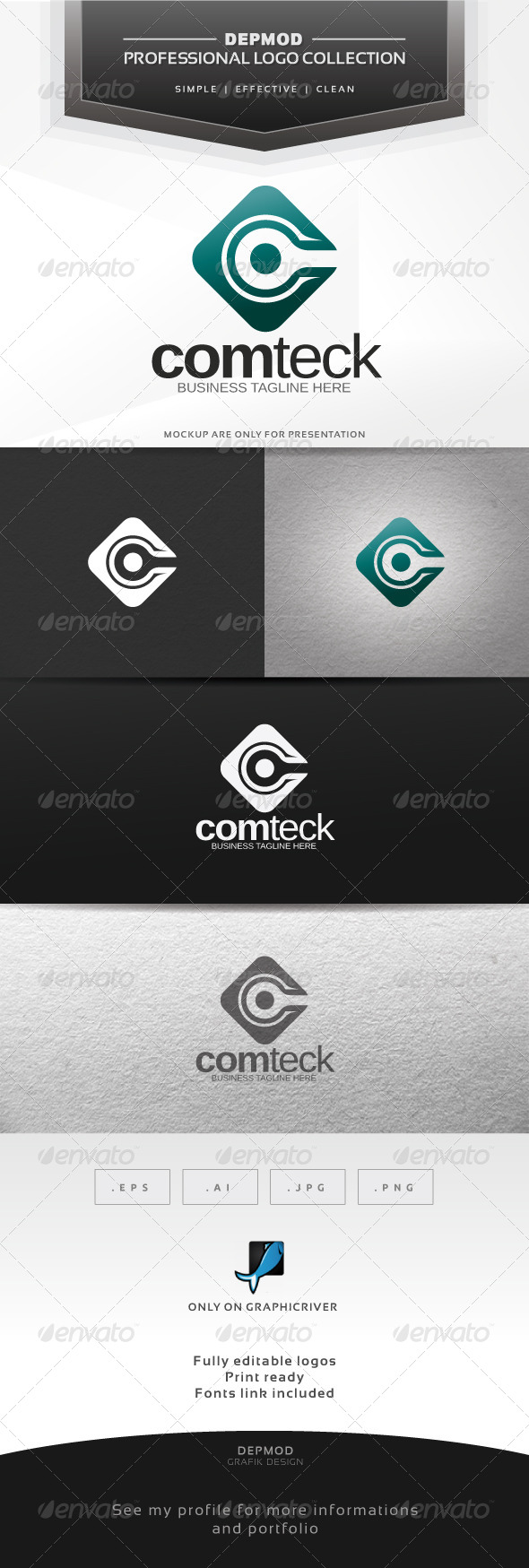 Comteck Logo - Abstract Logo Templates