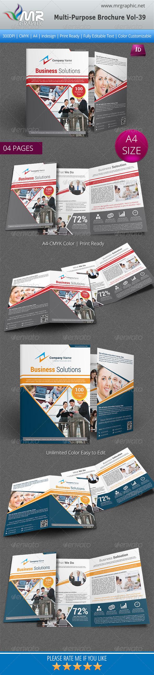 Multipurpose Bifold Brochure Template Vol-39 - Corporate Brochures
