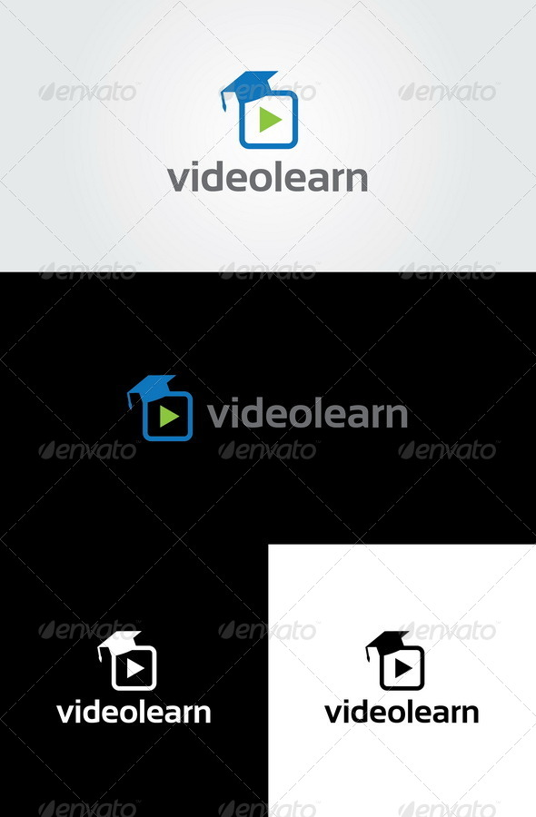 Video Learn Logo Template - Symbols Logo Templates
