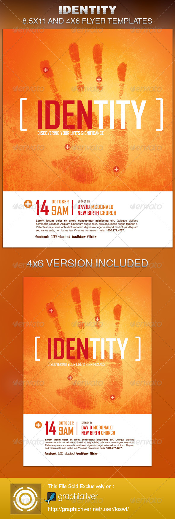Identity Church Flyer Template - Church Flyers