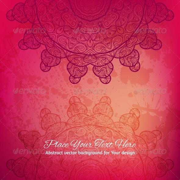 Abstract Vector Background. Elegant Lace Arabesque - Backgrounds Decorative