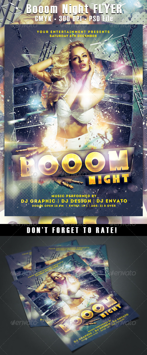 Booom Night Flyer - Clubs & Parties Events