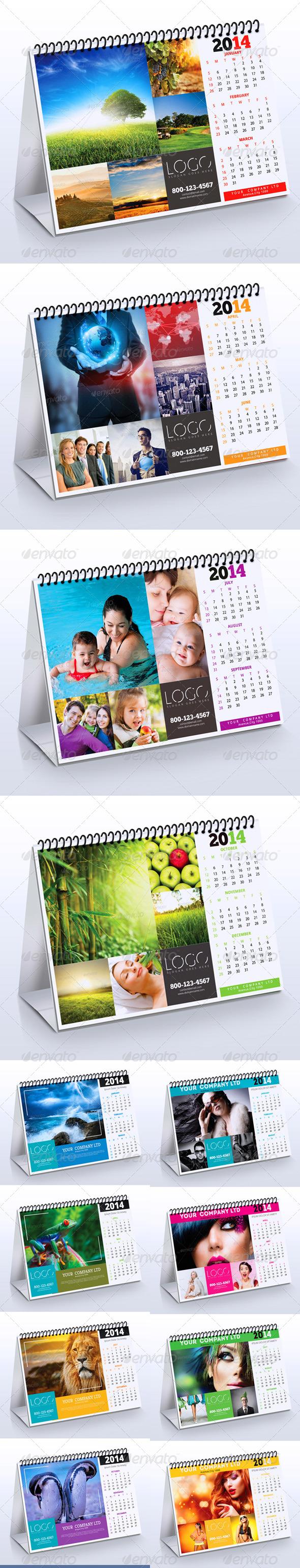 2014 Desk Calendar Bundle - Calendars Stationery