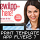 Mobile App Flyer Print Template 7 - GraphicRiver Item for Sale