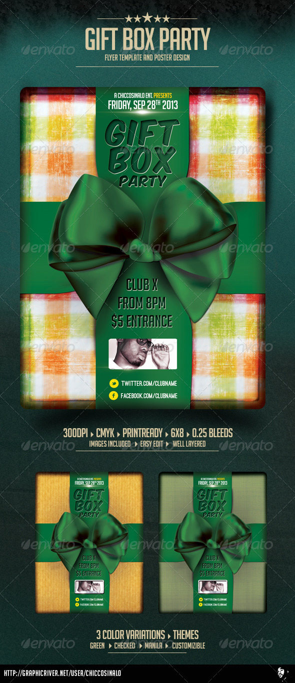 Gift Box Flyer Template - Flyers Print Templates