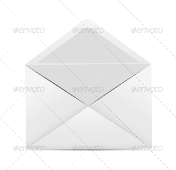 White Envelope Icon Vector Illustration - Web Technology