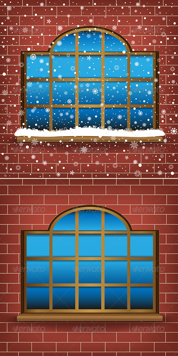 Large Window and Snow - Miscellaneous Conceptual