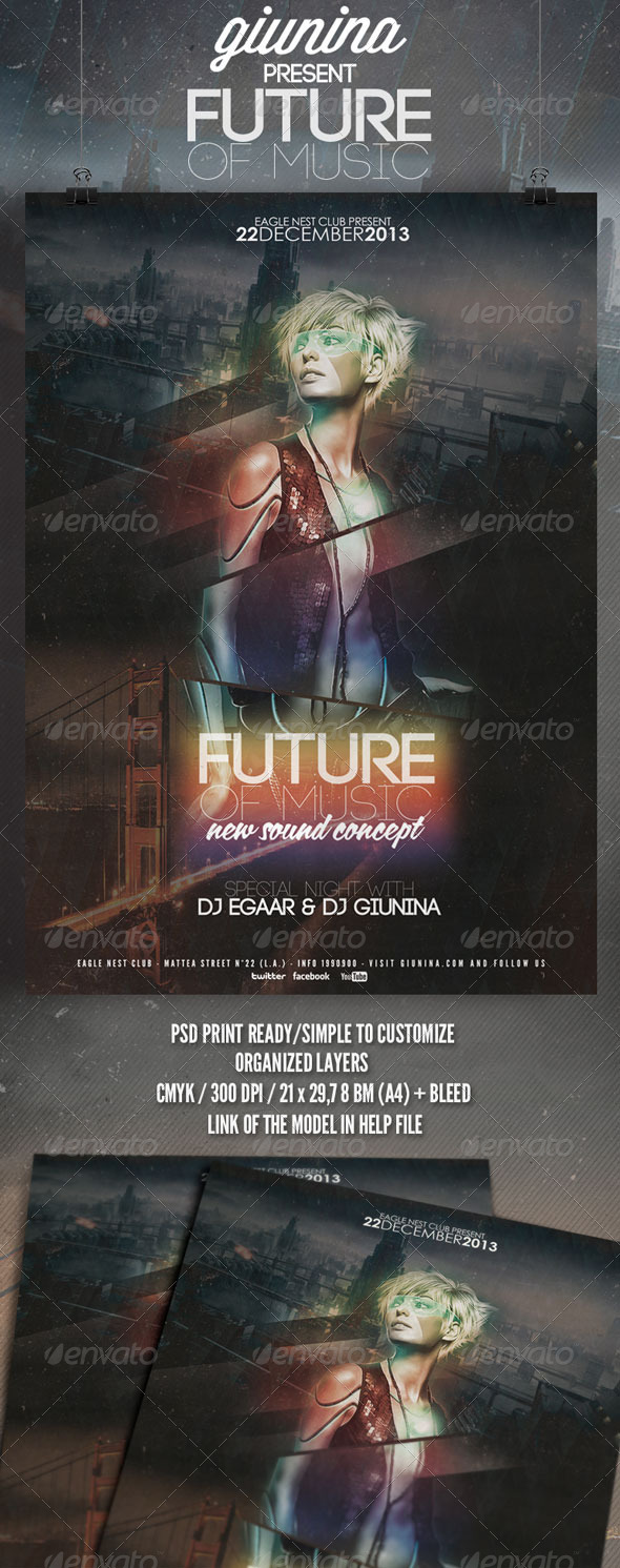 Future of Music Flyer/Poster - Events Flyers