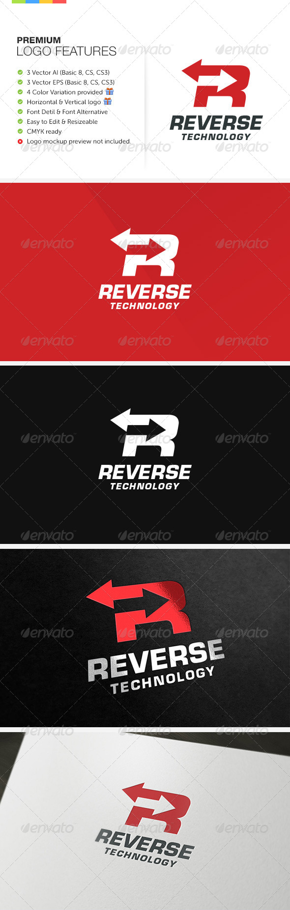 Reverse Technology Logo - Letters Logo Templates