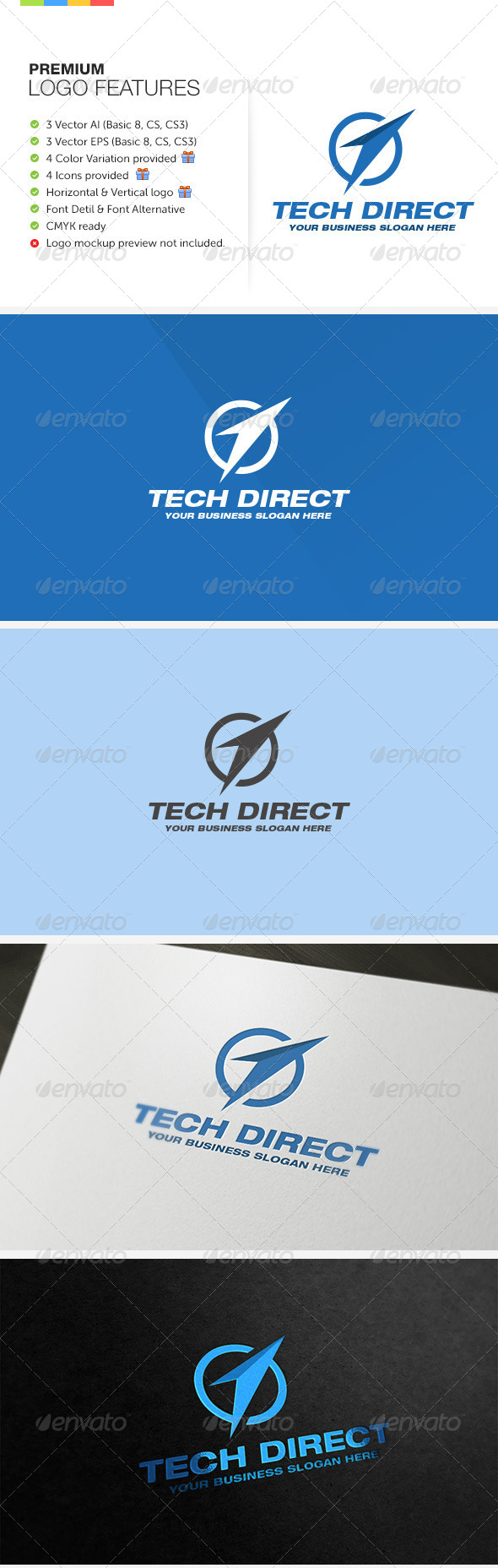 Direct Technology Logo - Symbols Logo Templates