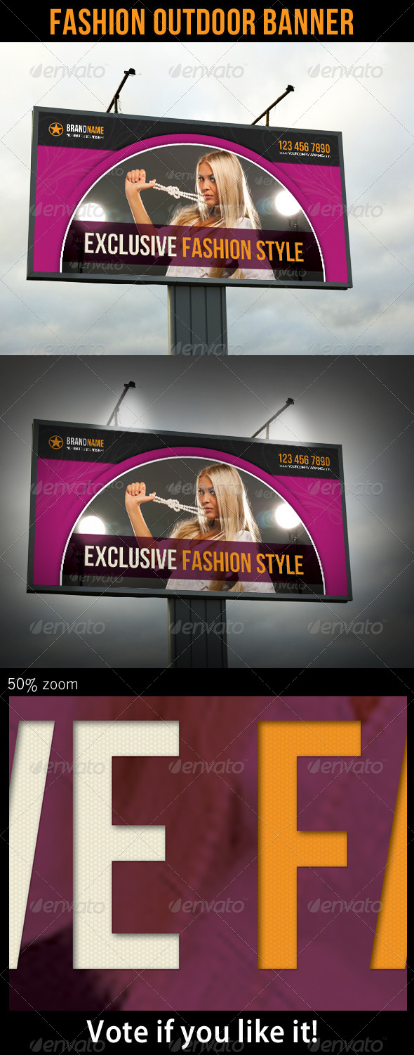 Fashion Outdoor Banner 14 - Signage Print Templates