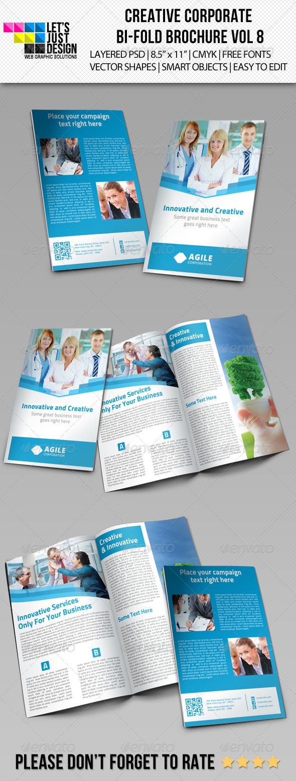 Creative Corporate Bi-Fold Brochure Vol 8 - Corporate Brochures