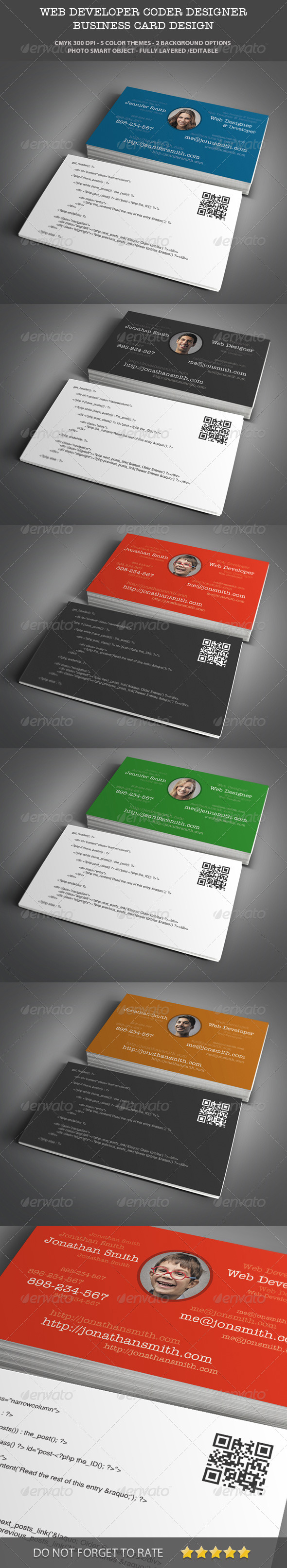 Web designer developer business card design by themeboo web designer developer business card design industry specific business cards magicingreecefo Choice Image