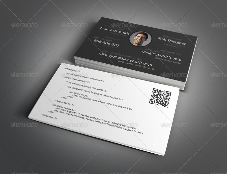 Web Designer & Developer Business Card Design by themeboo ...