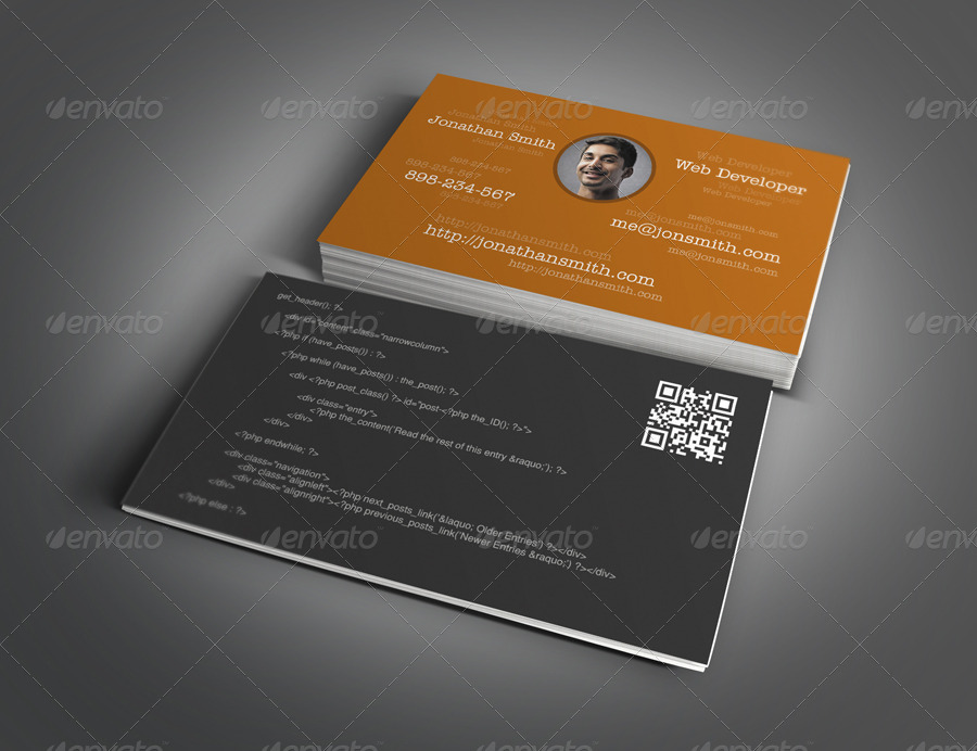 Web designer developer business card design by themeboo graphicriver web designer developer business card design reheart