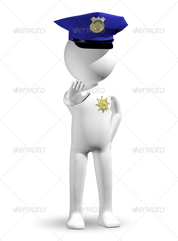 Policeman - Characters 3D Renders