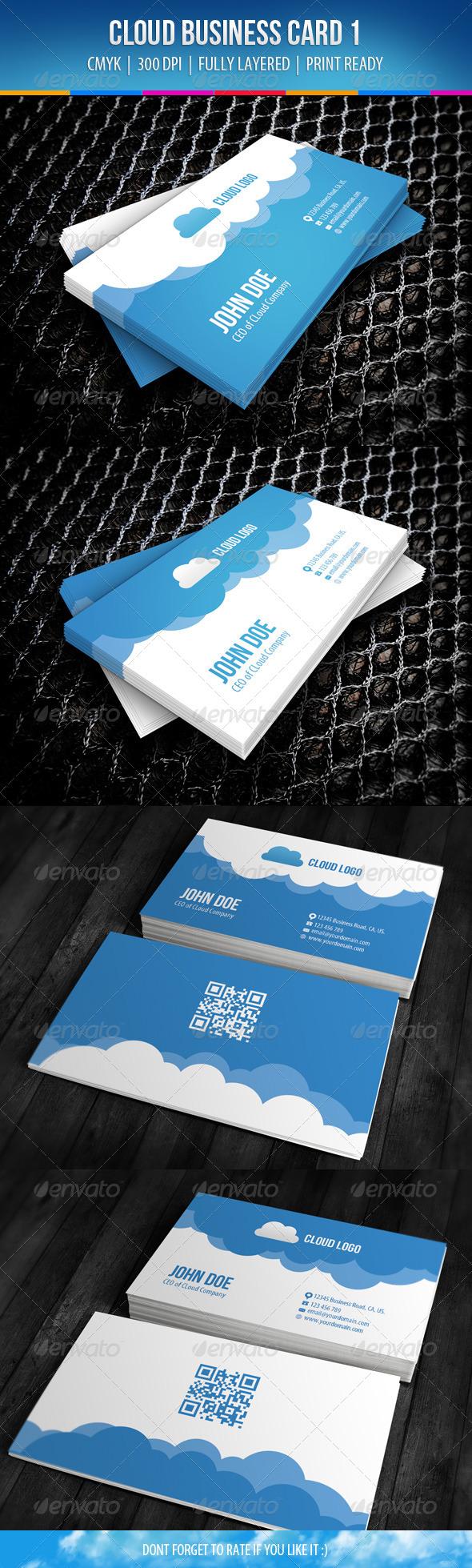 Cloud Business Card Design 1 - Creative Business Cards