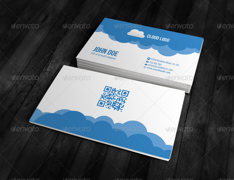 Cloud Business Card Design 1 Creative Cards 01 Mockup Front Jpg 02